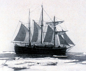 The Fram under sail, picture courtesy NOAA