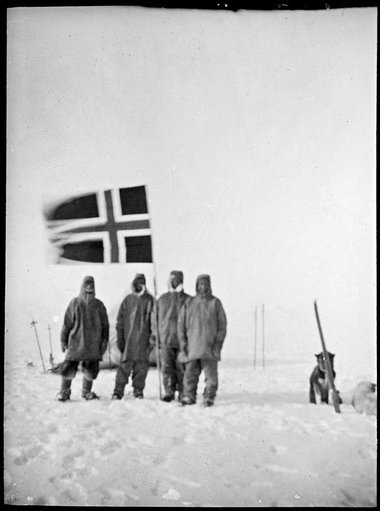 Amundsen at the pole