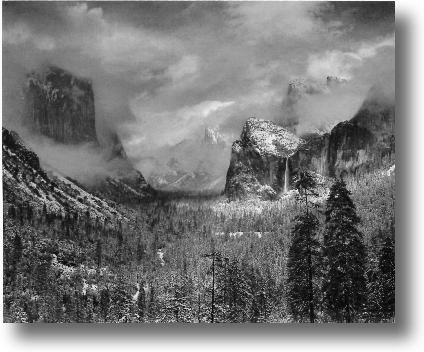 Ansel Adams Clearing Winter StormAnsel Adams Clearing Winter Storm