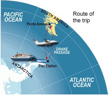 fly to antarctica flights and cruise antarctic