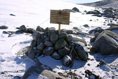 site of Campbells Igloo Inexpressible Island